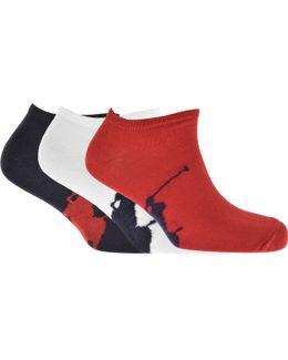 3 Pack Socks Red