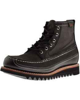 Quail Razor Leather Boots Black