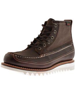 Quail Razor Leather Boots Brown