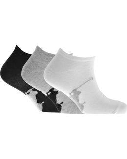 3 Pack Socks Black