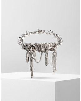 Copper And Brass Fringe Bracelet