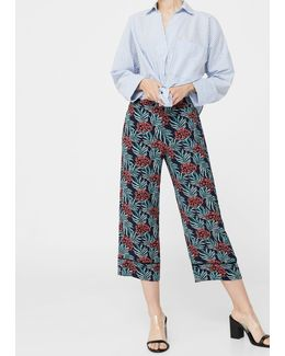 Printed Crop Trousers