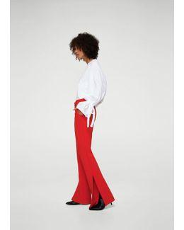 Side Slit Flowy Trousers