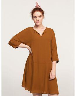 Appliqué Flowy Dress