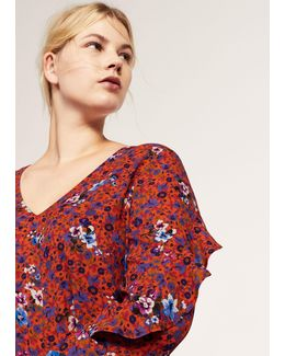Ruffles Floral Blouse