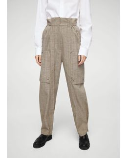 Check Cargo Trousers