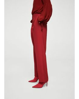 Pleat Textured Trousers