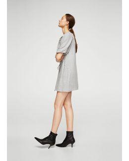 Textured Wool-blend Dress