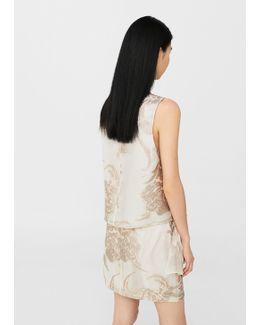 Metallic Detail Skirt