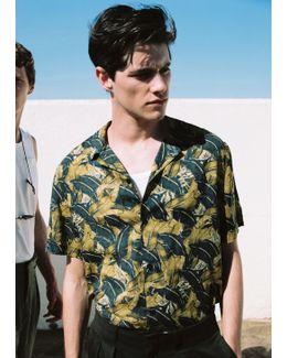 Regular-fit Leaf-print Shirt