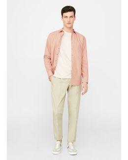 Slim-fit Printed Cotton Shirt
