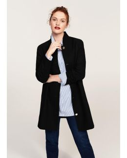 Buttoned Cotton Coat