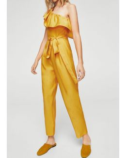 Bow Ruffled Jumpsuit