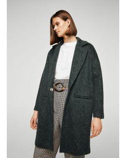Long Mohair-blend Coat