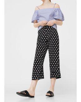 Printed Crop Trousers