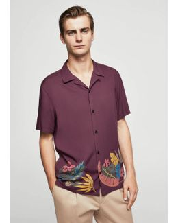 Printed Lapels Shirt
