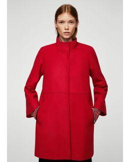 Straight-cut Wool Coat