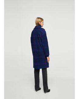 Checked Oversize Coat