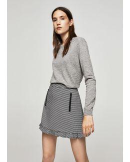 Ruffled Vichy Skirt