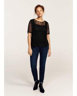 Ruffled Lace T-shirt