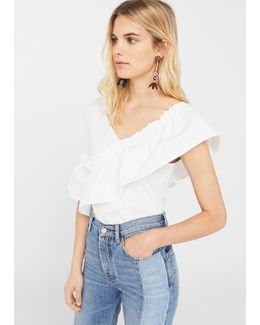Ruffle Cotton T-shirt