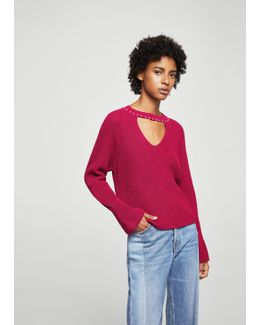 Pearls Neckline Sweater
