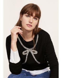 Metal Appliqué Sweater