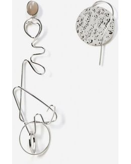 Mixed Asymmetric Earrings