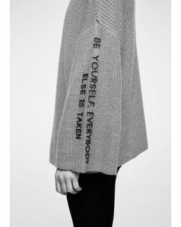 Message Knitted Sweater