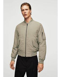 Cotton Water-repellent Bomber Jacket