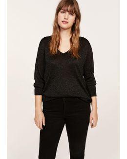 Metallic Finish Sweater