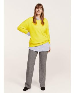 Textured Fine-knit Sweater