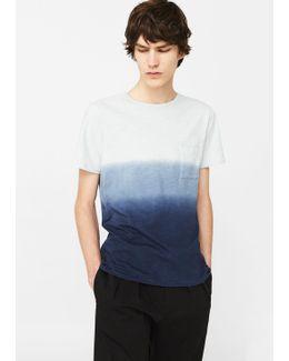 Ombré-stripe Cotton T-shirt