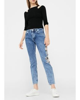 Embroidered Relaxed Spring Jeans