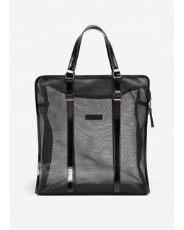Mesh Pattern Shopper Bag