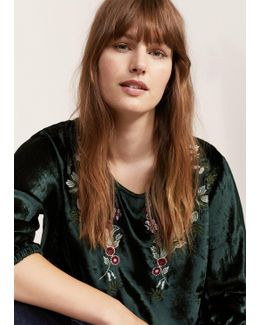 Textured Embroidered Blouse