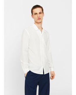 Cotton Silk-blend Regular-fit Shirt