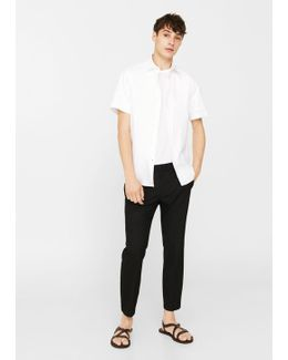 Slim-fit Textured Cotton Shirt