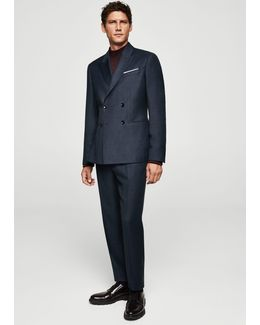 Slim-fit Cool Wool Suit Trousers