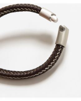 Metal Hook Leather Bracelet