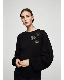 Bead Detail Sweatshirt
