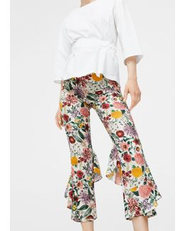 Ruffles Floral Trousers