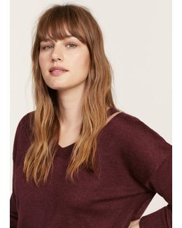 Neck Cut-out Sweater