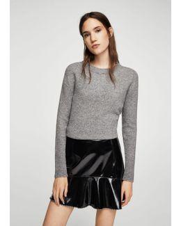 Ruffled Vinyl Skirt
