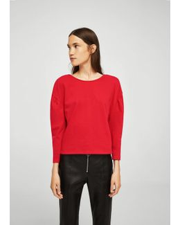 Puffed-shoulder Sweatshirt