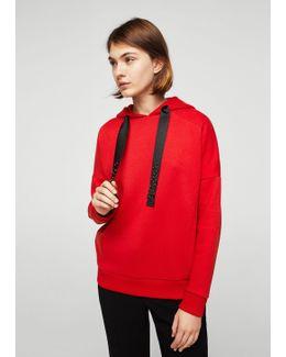 Metallic Appliqués Sweatshirt