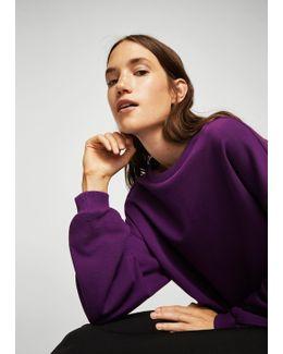 Ruched Sleeve Sweatshirt