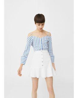 Ruffle Denim Skirt