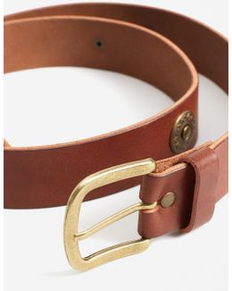 Appliqués Leather Belt
