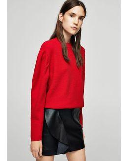 Ruffled Leather Skirt
